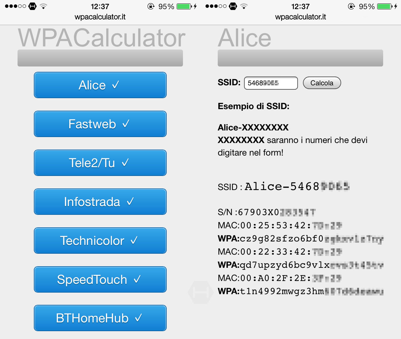Scoprire la password o la chiave di un router con WPACalculator